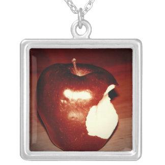 Very Bitten Square Pendant Necklace