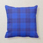 Very Blue  Plaid  Throw Pillow