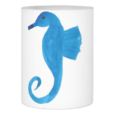 Very Blue Sea Horse Flameless Candle