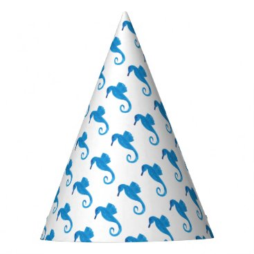 Beach Themed Very Blue Sea Horse Party Hat