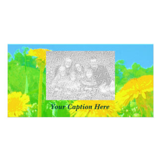 Very Bright Dandelions Card