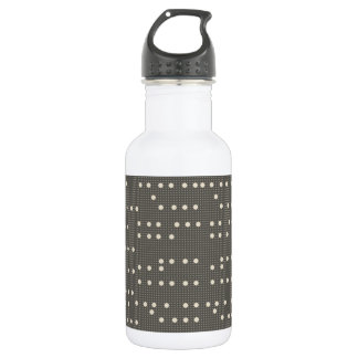 Very British graphic train and bus seat patterns Water Bottle