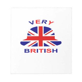 very british notepad