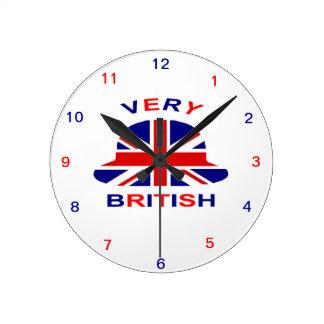 very british round clock