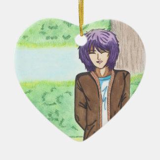 Very Charming Jake Heart Shaped Ornament