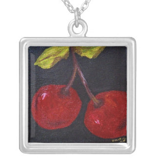 Very Cherry by Kristie Square Pendant Necklace