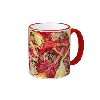 Very Colorful Blossoms Ringer Mug