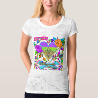 Very Colorful Ladies Burnout T-Shirt (Fitted)