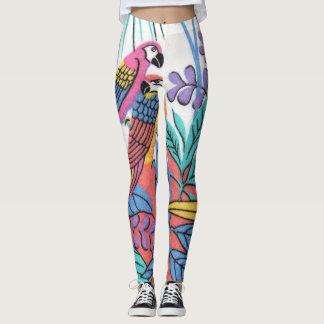 Very Colorful Parrots Leggins Leggings