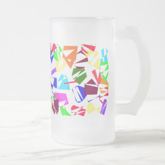 Very Colorful Shapes - 16 oz. Frosted Mug! 16 Oz Frosted Glass Beer Mug