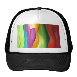 Very colorfull abstract painting. trucker hat
