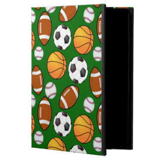 Very Cool and Special Sports Theme On turf Green iPad Air Cover