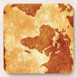Very cool antique world map drink coasters
