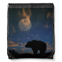 Very Cool Bear and Moon Backpack