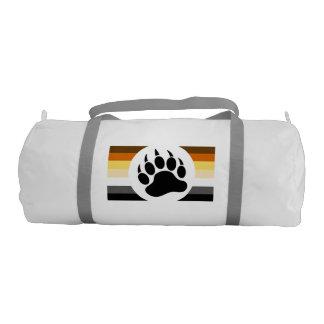 Very Cool Bear Paw Bear pride flag stripes Gym Bag