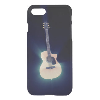 Very cool Blue Glowing Guitar iPhone 8/7 Case