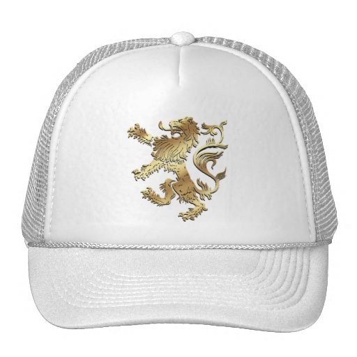 Very cool coat of arms style lion for gifting trucker hat