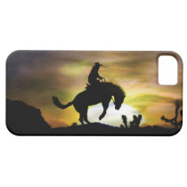 Very Cool Cowboy Bronc Rider in the Sunset Case