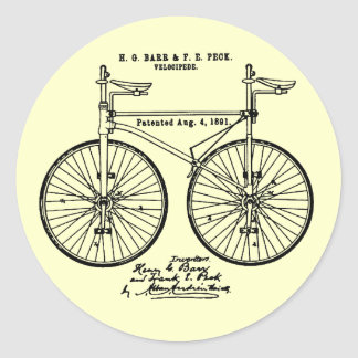 Very cool Cycling Velo Patent gift Classic Round Sticker