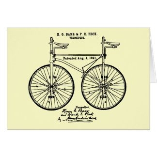Very cool Cycling Velo Patent gift Greeting Card