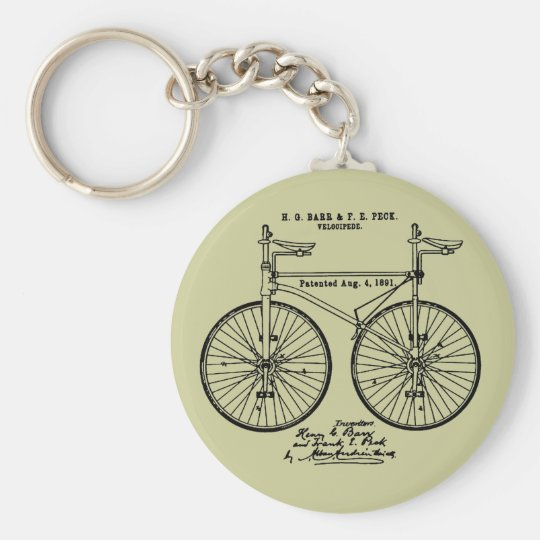 Very cool Cycling Velo Patent gift Keychain