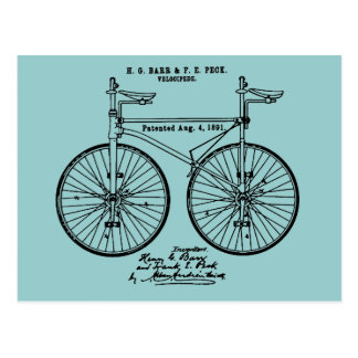 Very cool Cycling Velo Patent gift Postcard