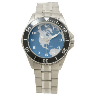 Very Cool earth and the globe Wrist Watches