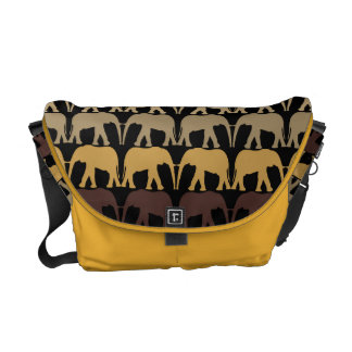 Very Cool Elephants Pattern Courier Bag