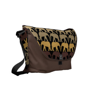 Very Cool Elephants Pattern Messenger Bag