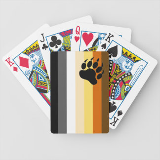 VERY COOL Gay Bear Pride Colors Bicycle Playing Cards