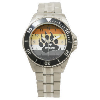 VERY COOL Gay Bear Pride Colors Watches