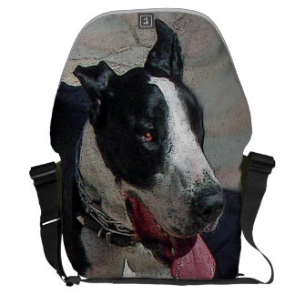 Very cool great dane puppy dog courier bag