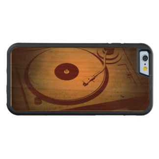 Very Cool Grunge Retro Record Player Turntable Carved® Cherry iPhone 6 Bumper