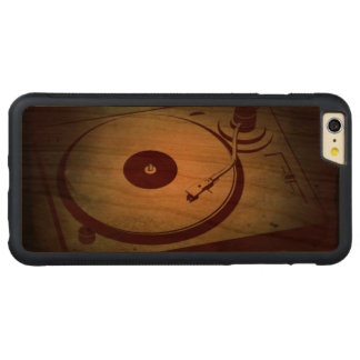 Very Cool Grunge Retro Record Player Turntable Carved® Cherry iPhone 6 Plus Bumper Case