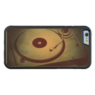 Very Cool Grunge Retro Record Player Turntable Carved® Maple iPhone 6 Bumper