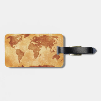 Very cool map of the world bag tag