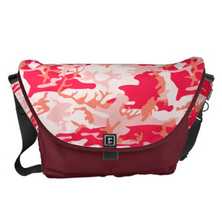 Very Cool Military Style Pink Camo Pattern Messenger Bag