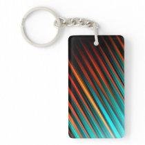 Very Cool Modern Multicoloured Striped Keychain