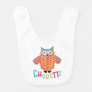 Very Cool Owl French Pun Bib