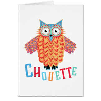 Very Cool Owl French Pun Card