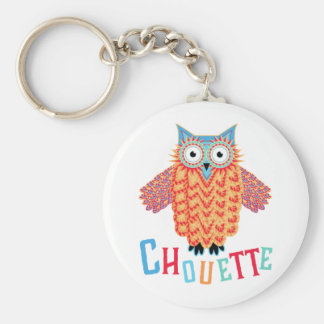 Very Cool Owl French Pun Keychain