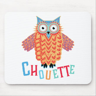 Very Cool Owl French Pun Mouse Pad