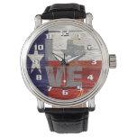 Very Cool Rustic Texas Flag Patriotic Love Texas Wrist Watch