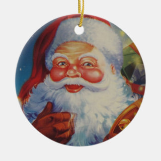 Very Cool Santa Claus Orniment Ceramic Ornament