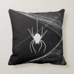 Very Cool Spider on Web Pillow