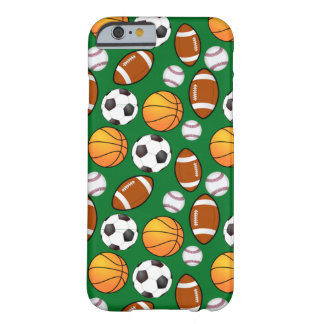 Very Cool Sports Theme On turf Green Barely There iPhone 6 Case
