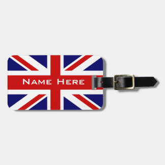 Very Cool U.k Flag The Union Jack With Monogram Bag Tag