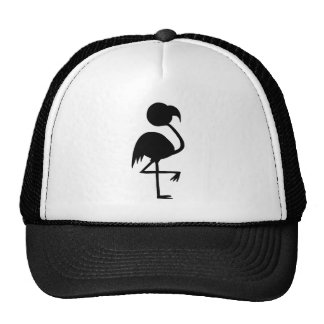 Very Cool Whimsical Flamingo Silouette Black Cool! Trucker Hat