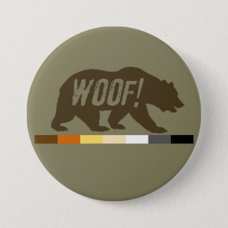 Very Cool Woof Gay Bears Pride Flag Button