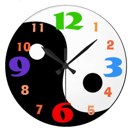 Very Cool Yin u0026 Yang Design Wall Clock : Zazzle